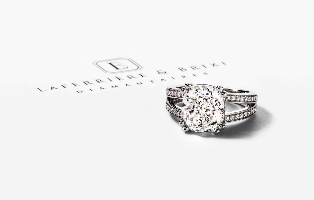 Custom Diamond Ring by Laferrière & Brixi