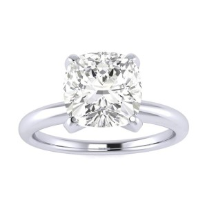 cushion cut diamond ring picture