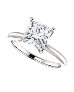 princess cut diamond ring picture